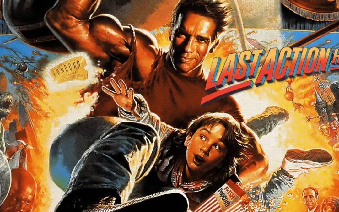 O Último Grande Herói comédia de ação com Arnold Schwarzenegger e Austin O'Brien de 1993