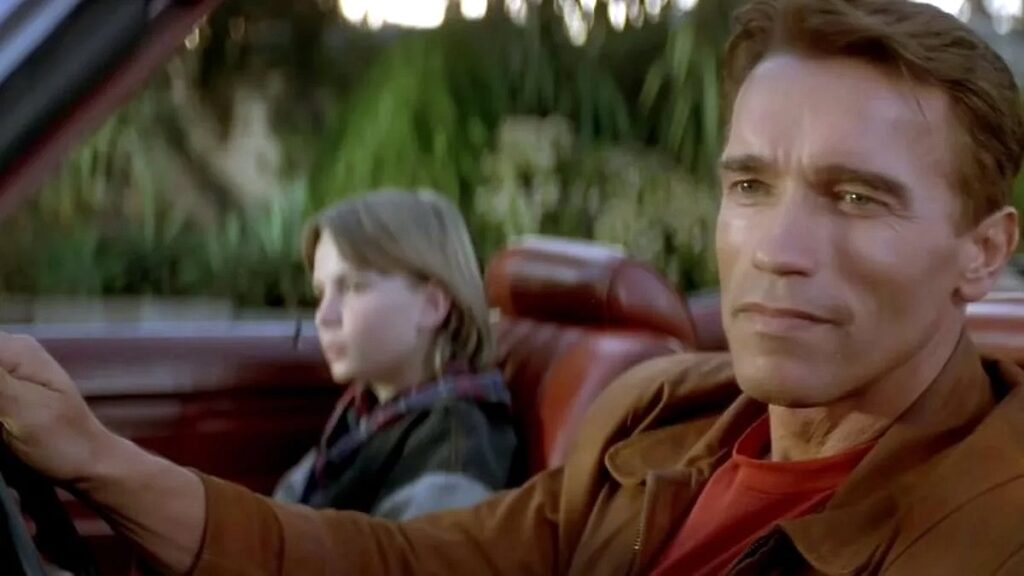 o ultimo grande heroi comedia de acao com arnold schwarzenegger e austin o brien img3 1024x576 - O Último Grande Herói comédia de ação com Arnold Schwarzenegger e Austin O'Brien de 1993