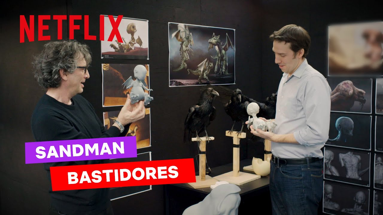 Sandman   Neil Gaiman visita os bastidores da série live-action da Netflix com cenários incríveis
