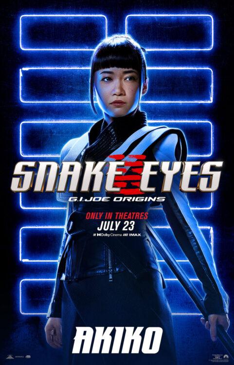 Snake Eyes: GI Joe Origins | Novos pôsteres individuais do Spin-off de ação da franquia GI Joe