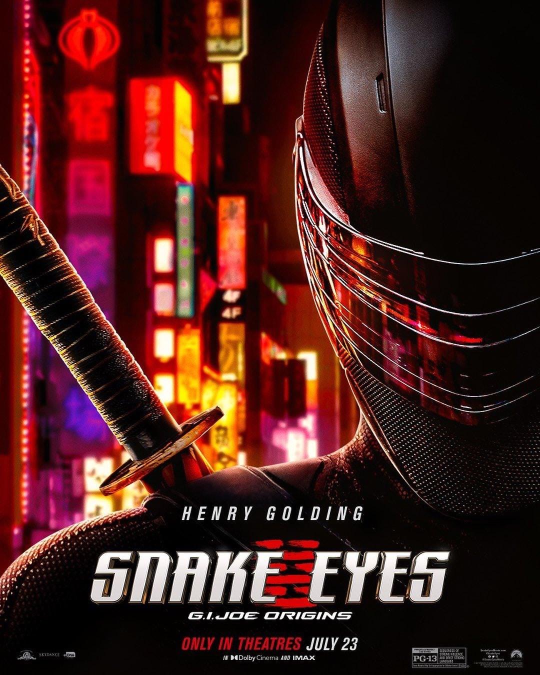 Snake Eyes: GI Joe Origins   Paramount Brasil divulga novo trailer do Spin-off da franquia GI Joe com cenas inéditas