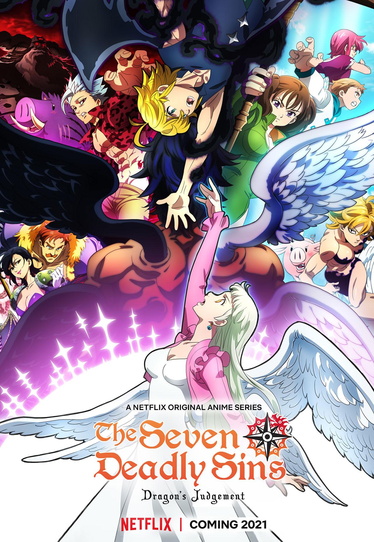 The Seven Deadly Sins: O Julgamento do Dragão   Netflix divulga trailer oficial da série anime