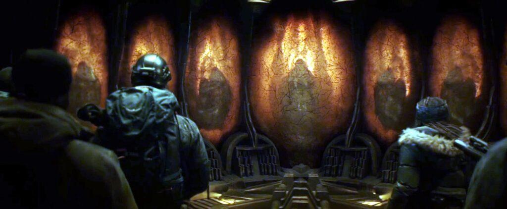 a guerra do amanha aliens garras brancas hibernando 1024x422 - A Guerra do Amanhã - Análise e Teoria sobre o final da Ficção Científica com Chris Pratt na Amazon Prime Video