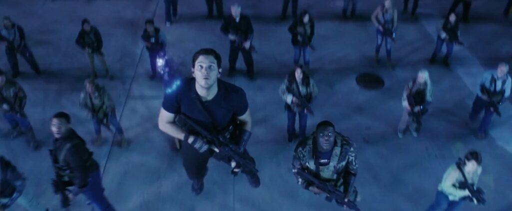 a guerra do amanha chegada dan forrest tropa r salto temporal 1024x422 - A Guerra do Amanhã - Análise e Teoria sobre o final da Ficção Científica com Chris Pratt na Amazon Prime Video