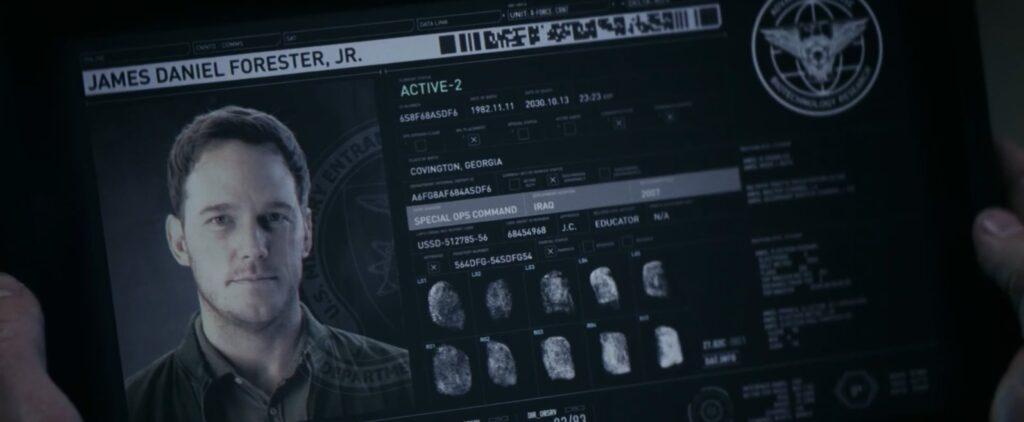a guerra do amanha chegada perfil james daniel forrest 1024x422 - A Guerra do Amanhã - Análise e Teoria sobre o final da Ficção Científica com Chris Pratt na Amazon Prime Video