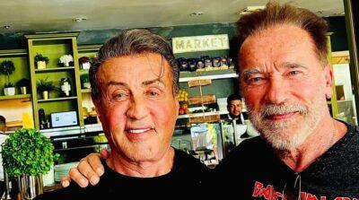 Arnold Schwarzenegger e Sylvester Stallone voltam a se reencontrar após mais de um ano sem se ver
