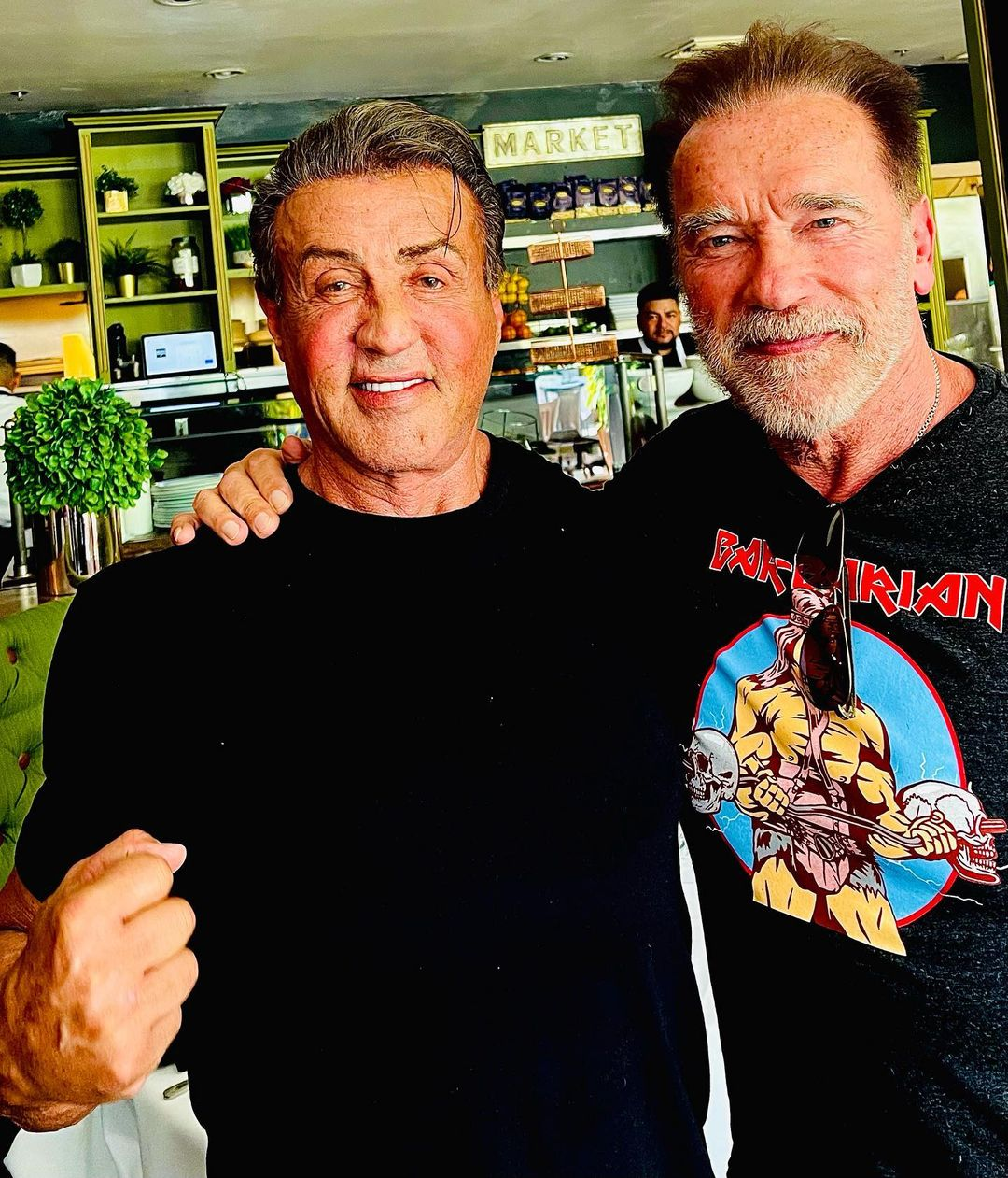 arnold schwarzenegger e sylvester stallone voltam a se reencontrar apos mais de um ano sem se ver imagem1 - Arnold Schwarzenegger e Sylvester Stallone voltam a se reencontrar após mais de um ano sem se ver