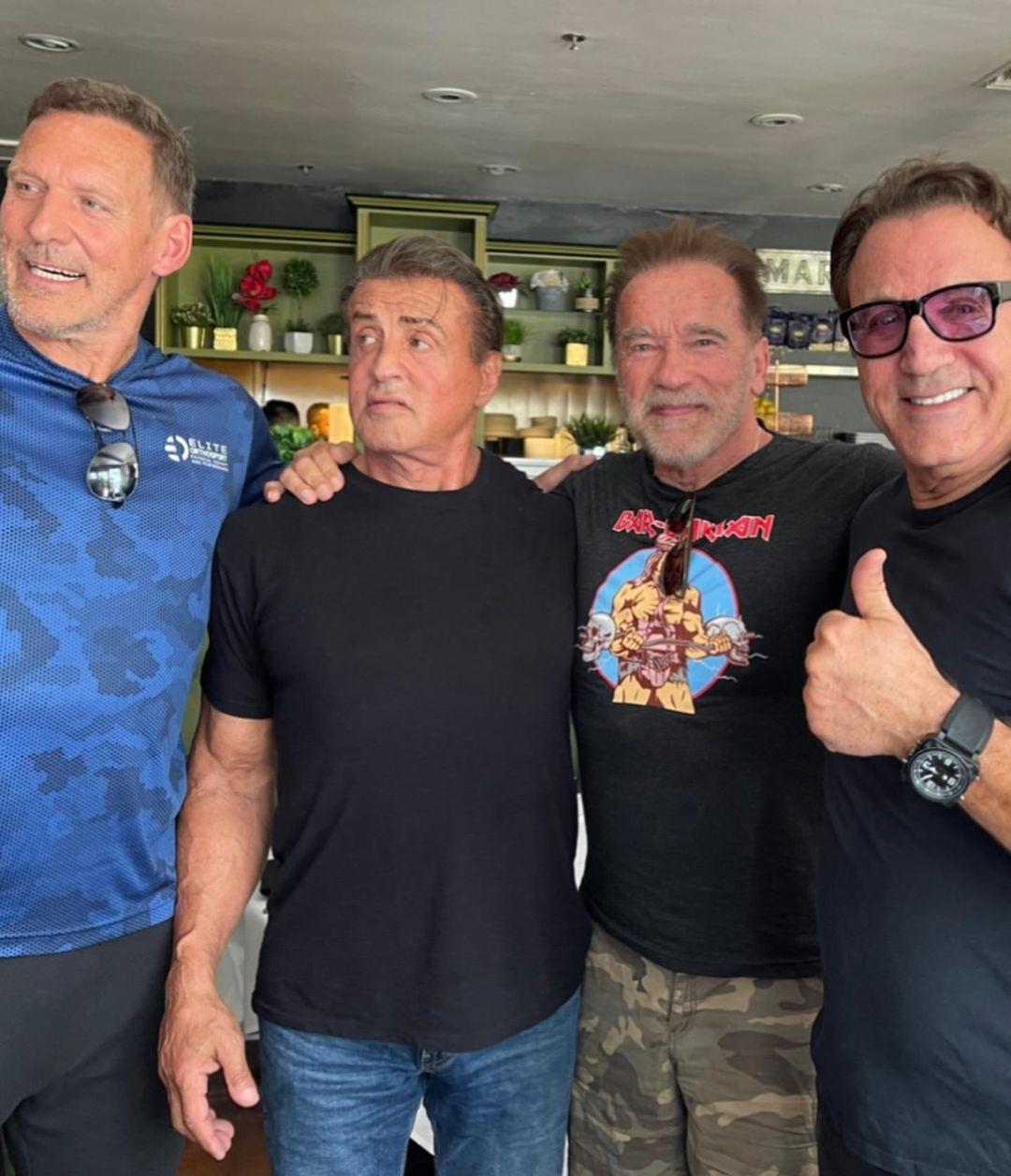 arnold schwarzenegger e sylvester stallone voltam a se reencontrar apos mais de um ano sem se ver imagem2 - Arnold Schwarzenegger e Sylvester Stallone voltam a se reencontrar após mais de um ano sem se ver