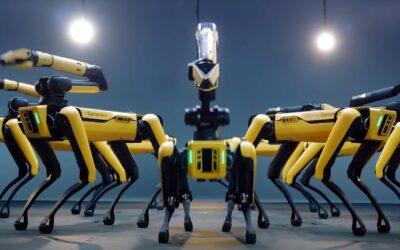 """Boston Dynamics   Empresa em tecnologia de robôs divulga vídeos de seus """"cães"""" robôs dançando em harmonia"""