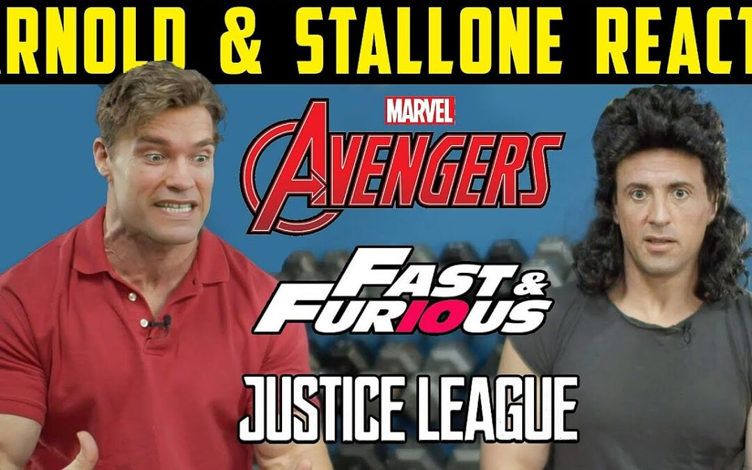 DEEPFAKE | Arnold Schwarzenegger e Sylvester Stallone viajam no tempo e reagem a filmes da Marvel e DC