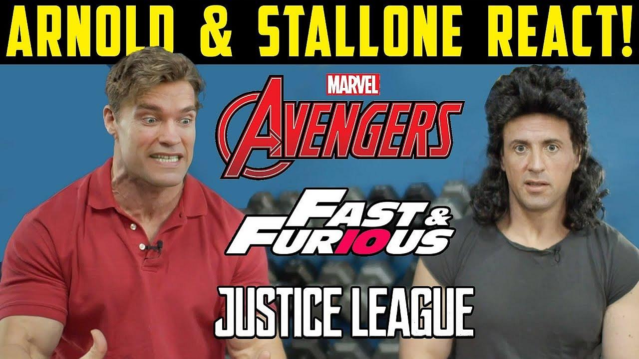 DEEPFAKE | Arnold Schwarzenegger e Sylvester Stallone viajam no tempo e reagem a filmes da Marvel e da DC