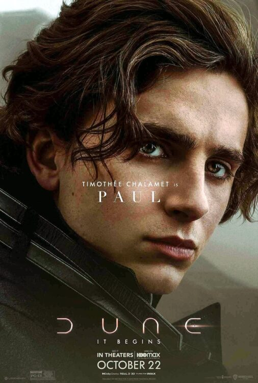 DUNA - Timothée Chalamet como Paul Atreides