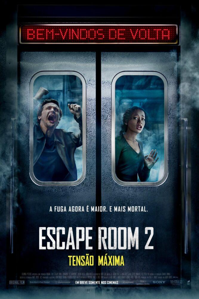 Escape Room 2 Tensão Máxima| Sony Pictures divulga cartaz nacional  com novos desafios