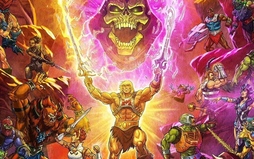 Mestres do Universo: Salvando Eternia | Pôster com todos os personagens clássicos da série