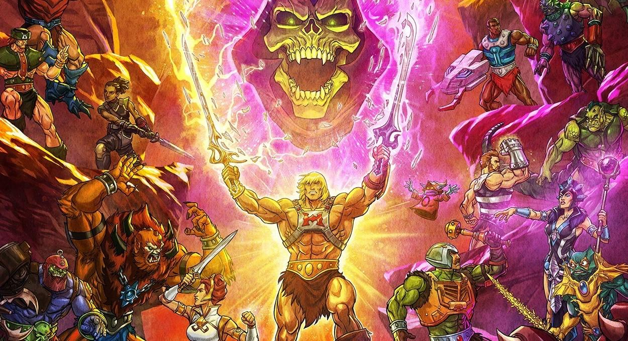 Mestres do Universo: Salvando Eternia | Poster com todos os personagens clássicos da série