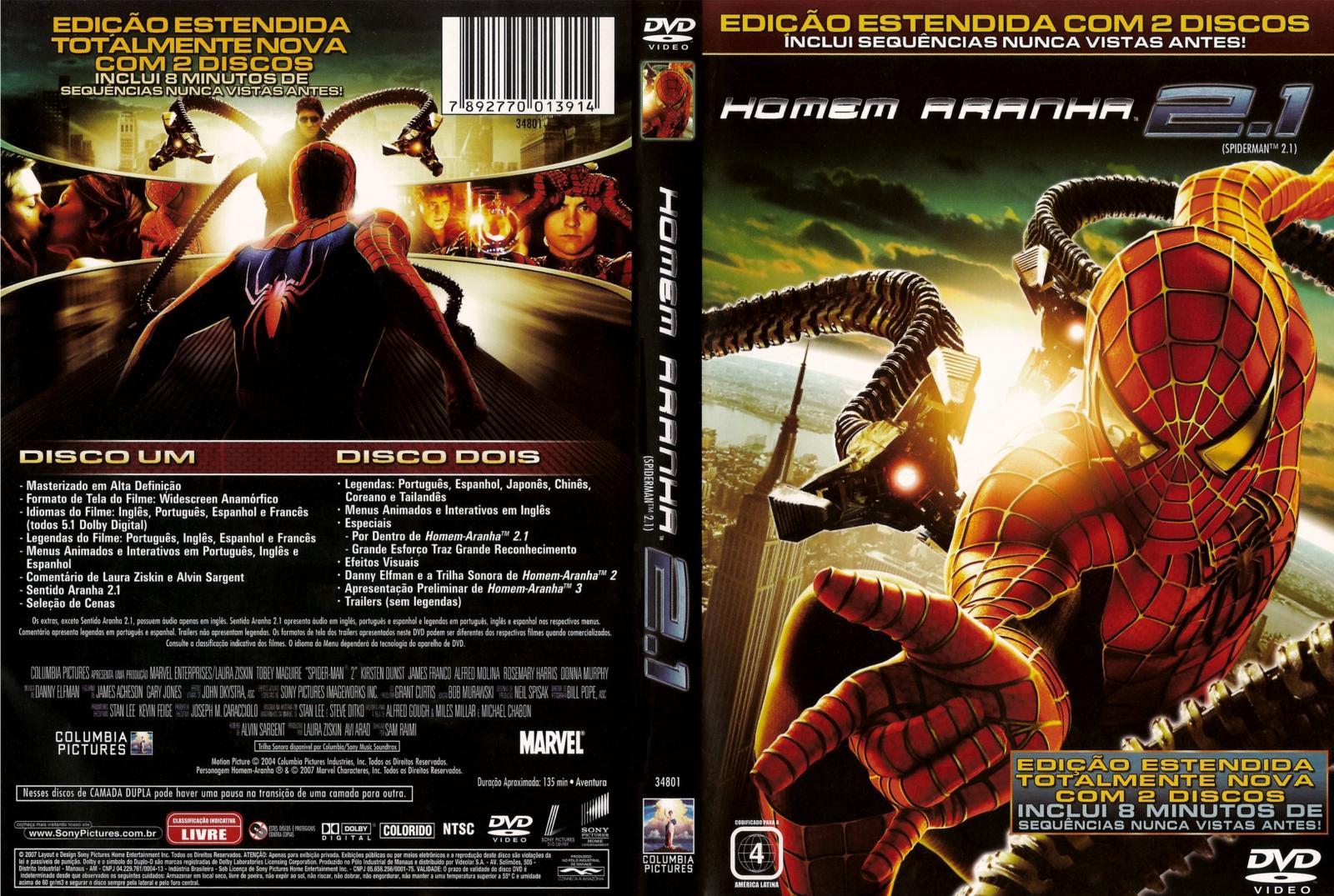 Versão estendida de Homem-Aranha 2 de Sam Raimi