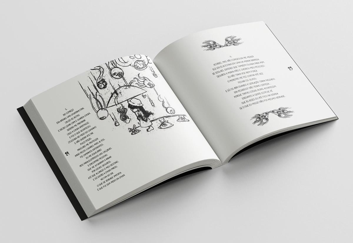 livro infantil o grande caderno de pesadelos por felipe campos campanha boneless editora pagina interna1 - O Grande Caderno de Pesadelos | Livro infantojuvenil inspirado nos cadernos de desenhos pela Boneless Editora