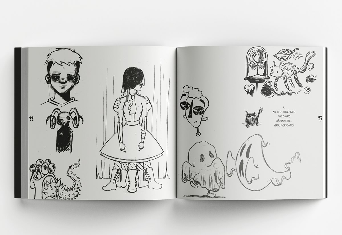 O Grande Caderno de Pesadelos | Livro infantojuvenil inspirado nos cadernos de desenhos pela Boneless Editora