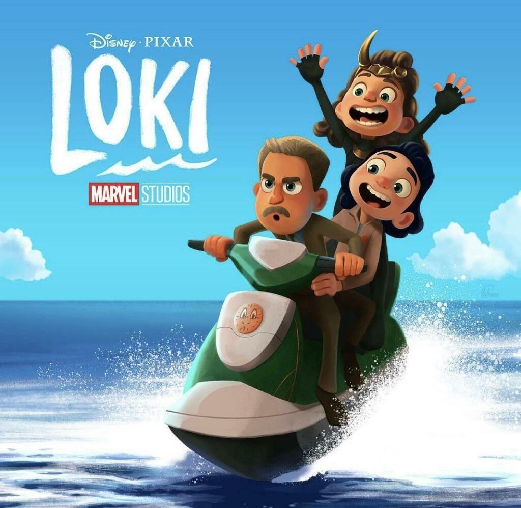 Loki | Série da Disney Plus ganha pôster inspirado em Luca da Pixar pelo Ilustrador Lyle Cruse