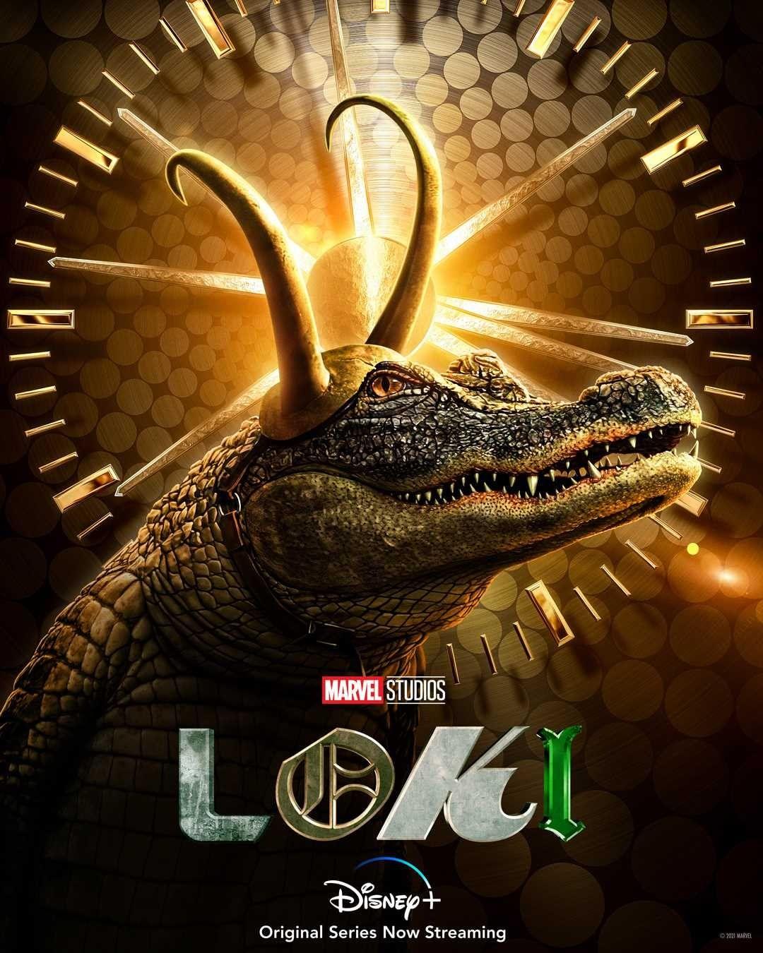 LOKI | Série da Marvel Studios tem pôsteres individuais divulgados das Variantes Loki - Alligator Loki