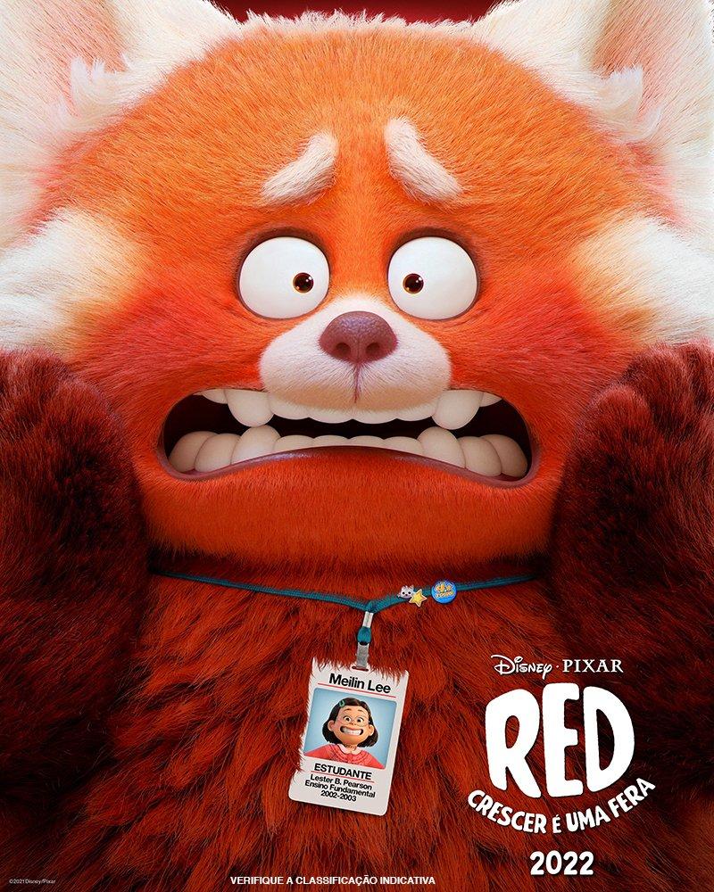 Red Crescer é uma Fera  Uma jovem se transforma em um panda vermelho gigante na nova animação da Pixar