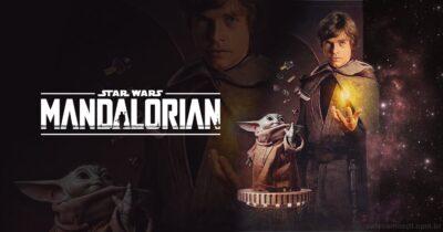 STAR WARS | Luke Skywalker e Grogu construindo um sabre de luz usando a força em arte  de Russell Walks