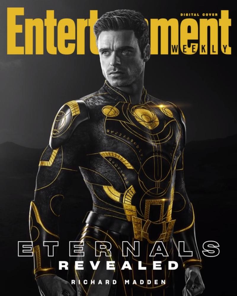 eternos ikaris - ETERNOS | Entertainment Weekly divulga capas individuais com os personagens da Marvel Studios