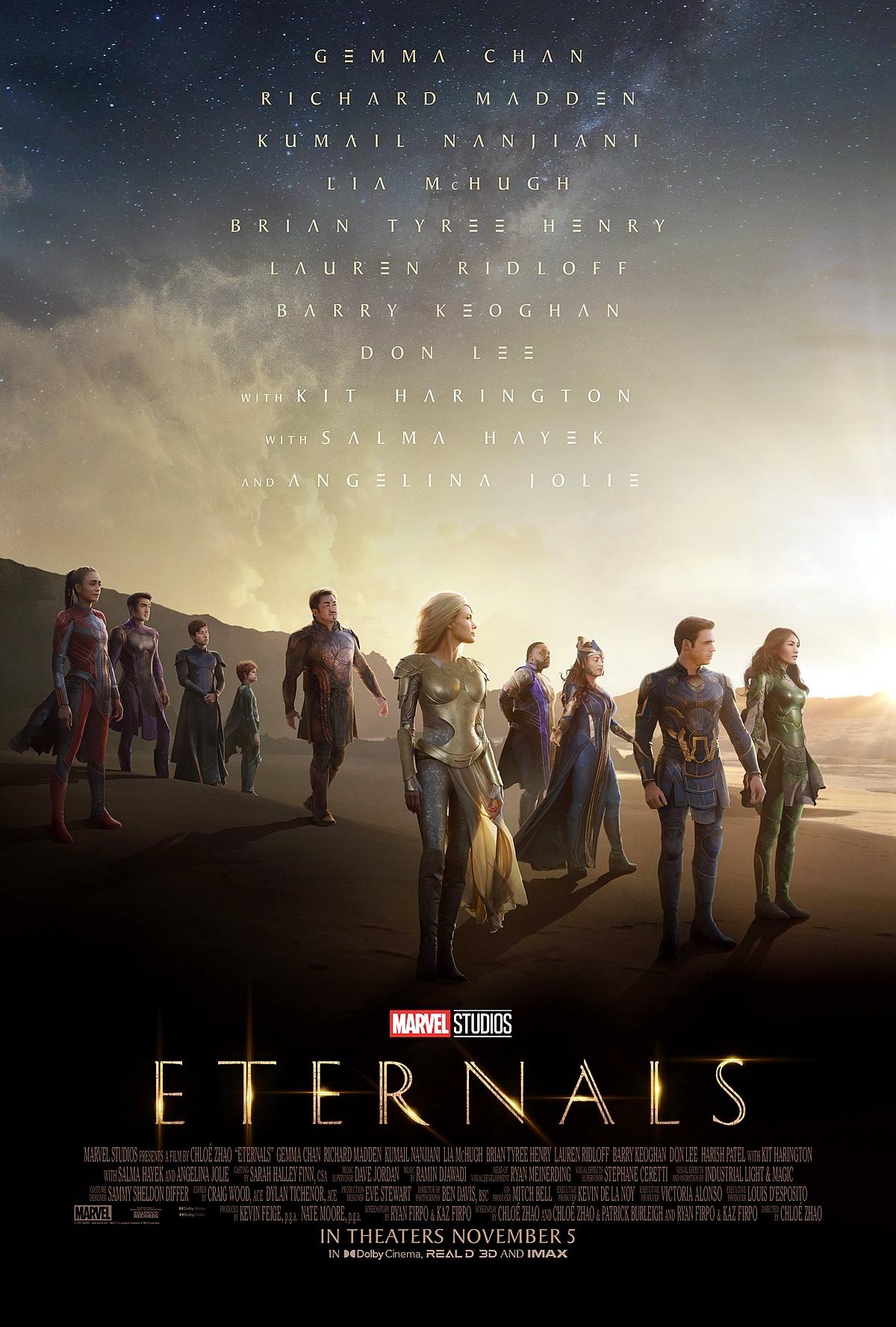 ETERNOS | Marvel Studios divulga novo trailer e pôster do longa dirigido por Chloe Zhao