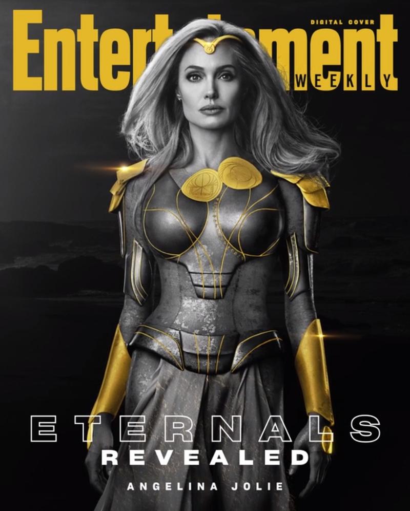 eternos thena angelia jolie - ETERNOS | Entertainment Weekly divulga capas individuais com os personagens da Marvel Studios