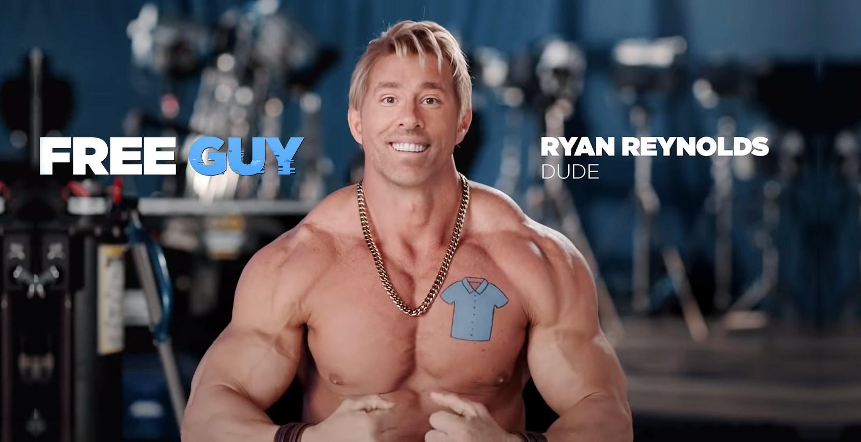 FREE GUY | Ryan Reynolds aparece como DUDE a versão bombada dele mesmo