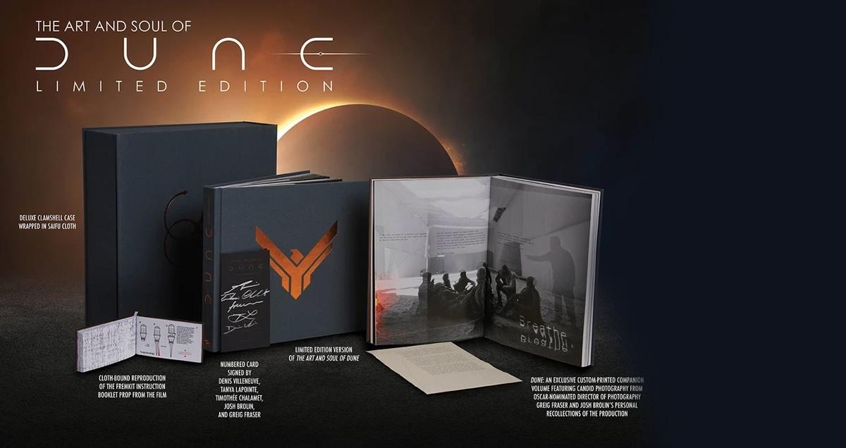 The Art and Soul of Dune de Denis Villeneuve, inclui uma partitura musical composta por Hans Zimmer