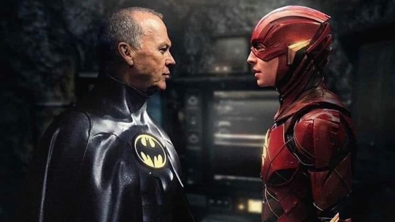 The Flash - Ezra Miller como Barry Allen e Michael Keaton como Batman