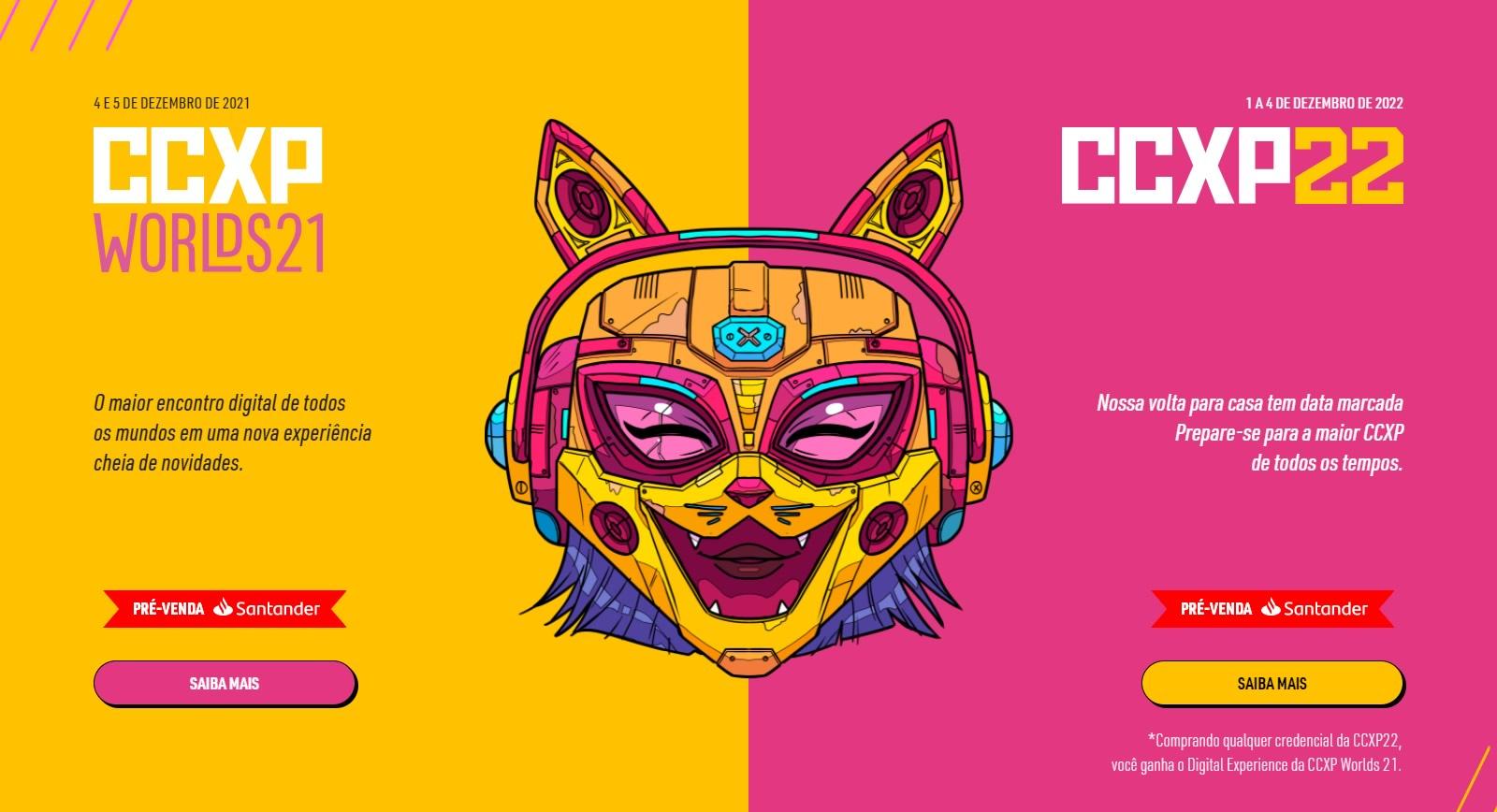 CCXP Worlds: Edição de 2021 | Evento em formato digital tem data e  ingressos anunciados e