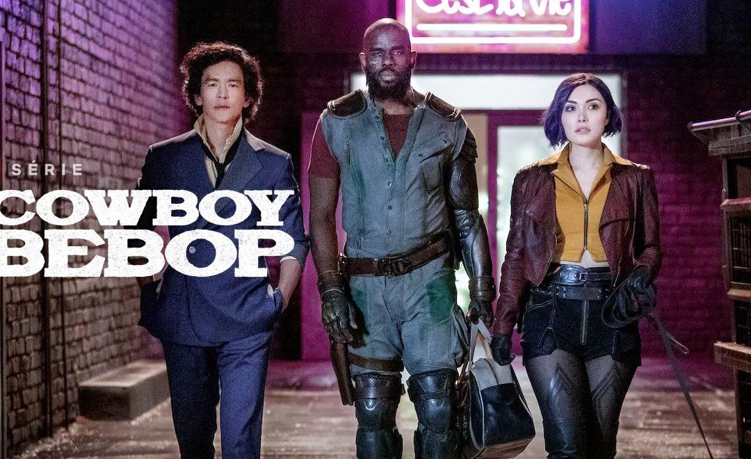 Cowboy Bebop | Netflix divulga pôster inédito da série live-action com os personagens Spike Spiegel, Faye Valentine e Jet Black