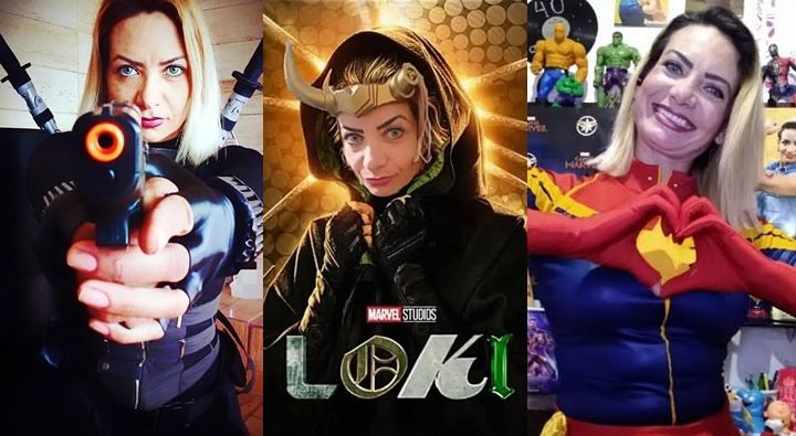 Ju Capitã Marvel Curitiba – Cosplayer e Cosmaker
