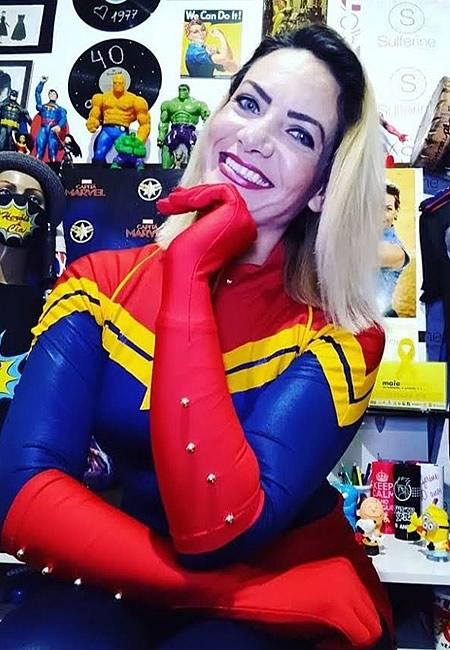 Ju Capitã Marvel Curitiba