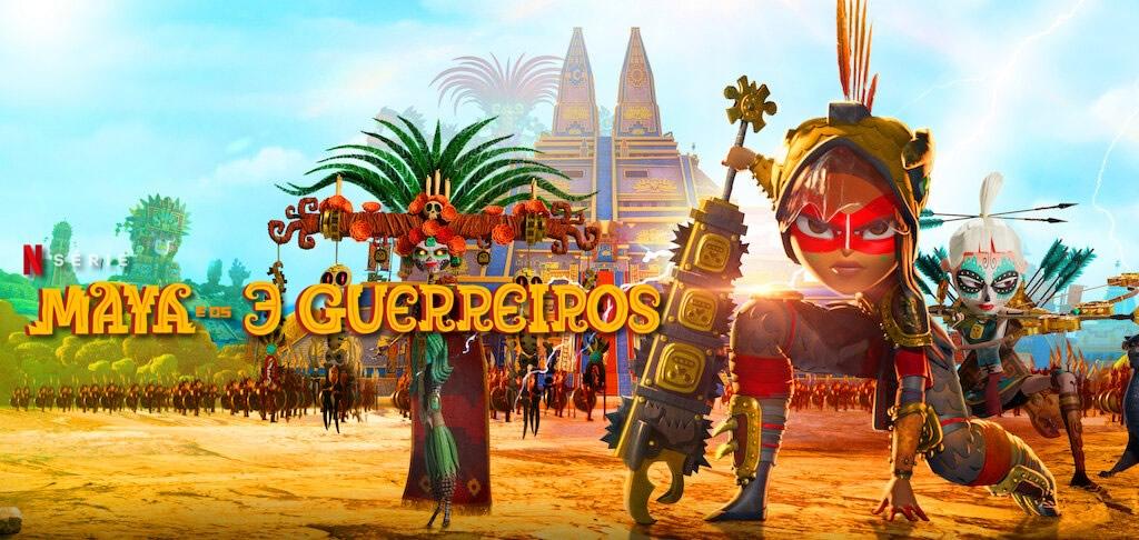 Maya e os 3 Guerreiros | Netflix divulga trailer da Minissérie animada dirigida e criada por Jorge R. Gutiérrez