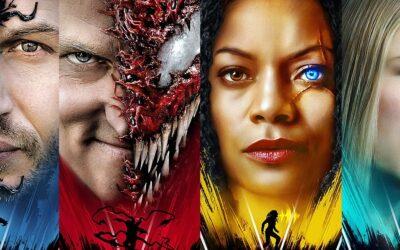 """Venom: Tempo de Carnificina   Cartazes indivuais divulgados e teaser com frase """"O Universo está se Expandindo"""""""