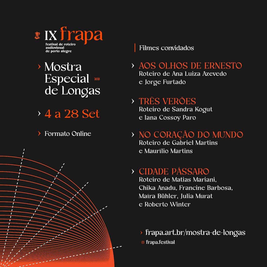 Festival de Roteiro Audiovisual de Porto Alegre inicia 9ª Edição com Mostra Online e Gratuita de L