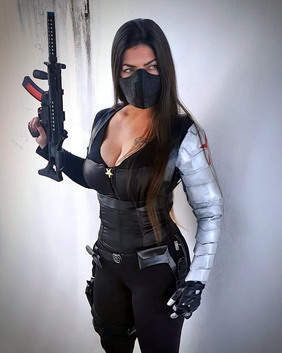 Nathália Corrêa - Cosplay Soldado Invernal