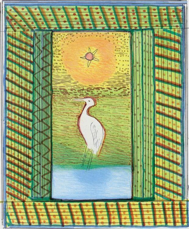 nhemombarate reko rai a garca branca guyraxi  620x750 - Livro bilíngue reúne Desenhos e Histórias da Cultura Guarani