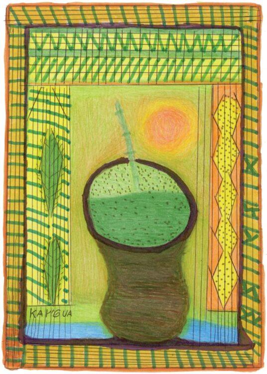 nhemombarate reko rai erva mate ka a 536x750 - Livro bilíngue reúne Desenhos e Histórias da Cultura Guarani