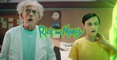 RICK AND MORTY em versão live-action com Christopher Lloyd e Jaeden Lieberher em vídeo do canal Adult Swim