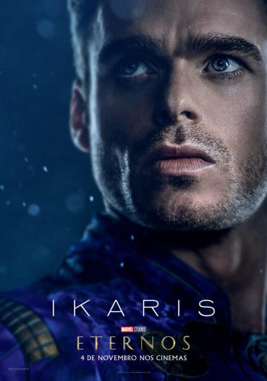 Eternos Marvel Studios Poster Ikaris 525x750 - Eternos | Marvel Studios divulga vídeo feature e pôsteres dos novos seres do Universo Cinematográfico da Marvel