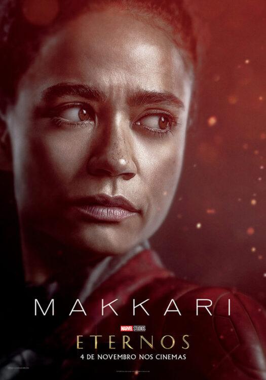 Eternos Marvel Studios Poster Makkari 525x750 - Eternos | Marvel Studios divulga vídeo feature e pôsteres dos novos seres do Universo Cinematográfico da Marvel