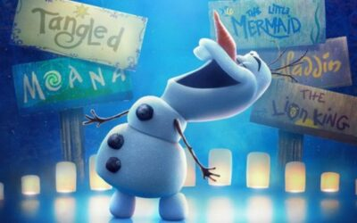 Olaf dando vida as histórias clássicas da Disney em trailer Olaf Apresenta para o streaming Disney +